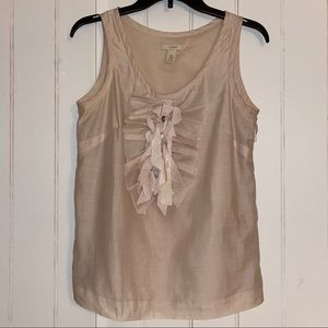 J Crew Sleeveless Top with Rhinestones